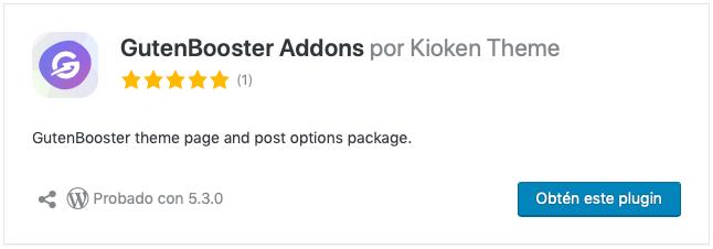 GutenBooster Addons