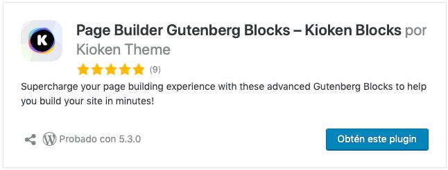 Page Builder Gutenberg Blocks – Kioken Blocks