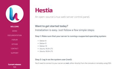 Instalación de HestiaCP
