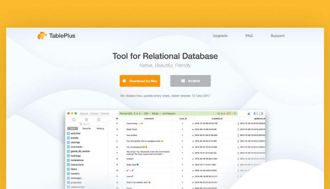 Importar base de datos con TablePlus