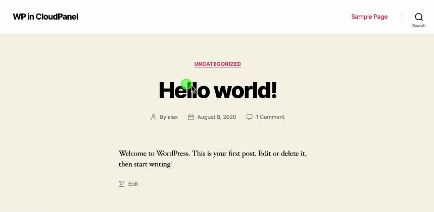 Instalar WordPress en CloudPanel.io